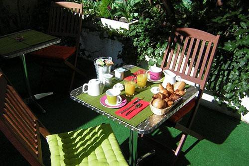 Petits déjeuners Hôtel Azur